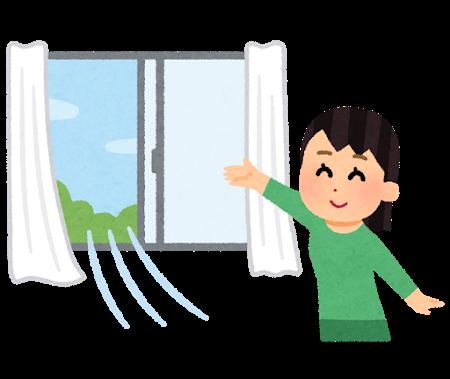 開放した窓のイメージ